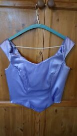 Bridesmaid Dress (Two Parts plus a matching scarf for your sholders) Lilac - Size: 10