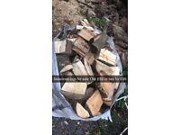 Seasoned bags off logs