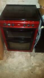 Red electric fan assited oven