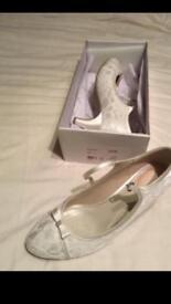 Bridal shoes pink paradox London