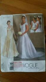 Vougue bride dress pattern