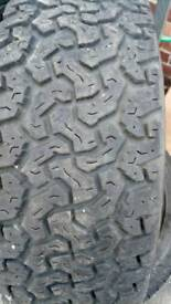 Pair of colway 235 70 16 all terrain tyres
