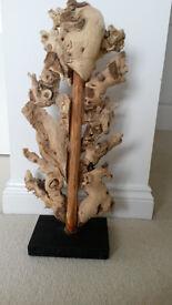 Wooden sculpture - driftwood, art work, approx 60cm high. Brand New