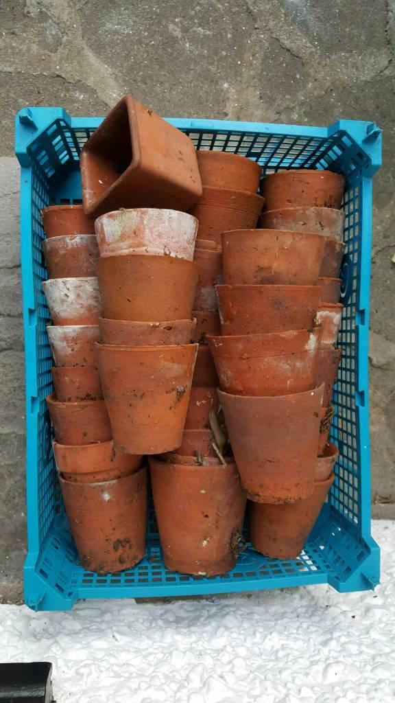 Small antique plant pots