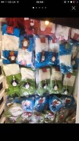Wholesale joblot of Christmas kids hats scarves and mittens etc 300 new pieces