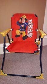 Kids fireman sam folding chair