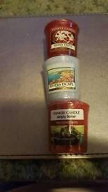 3x yankee votive cracker set
