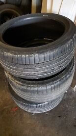 BMW Runflats full set 255/35/18 & 225/40/18 bridgestone re050 vgc