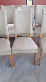 8 dinning chairs