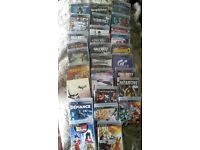 Playstation 3 PS3, Logitech Steering Wheel, Pedals, Stand and 30 games bundle