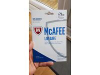 McAfee LIVESAFE 1 YEAR, 5 USER ANTIVIRUS SOFTWARE - RRP £79.99, NOW £25