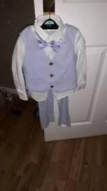 John rocha age 4 suit pale blue
