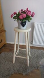 Hand painted bar stool/ side table