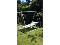 Free standing steel swinging bed / hammock