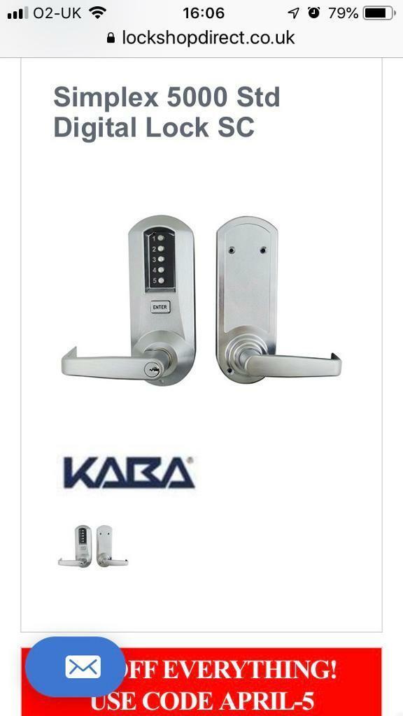 Lana simplex Digital Security lock | in Ammanford, Carmarthenshire | Gumtree