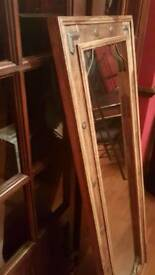 Old looking timber framed mirror
