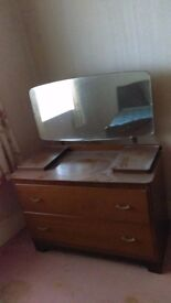 vintage dressing table / chest of drawers - free local delivery