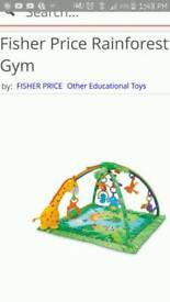 Fisher price forest gym playing mat