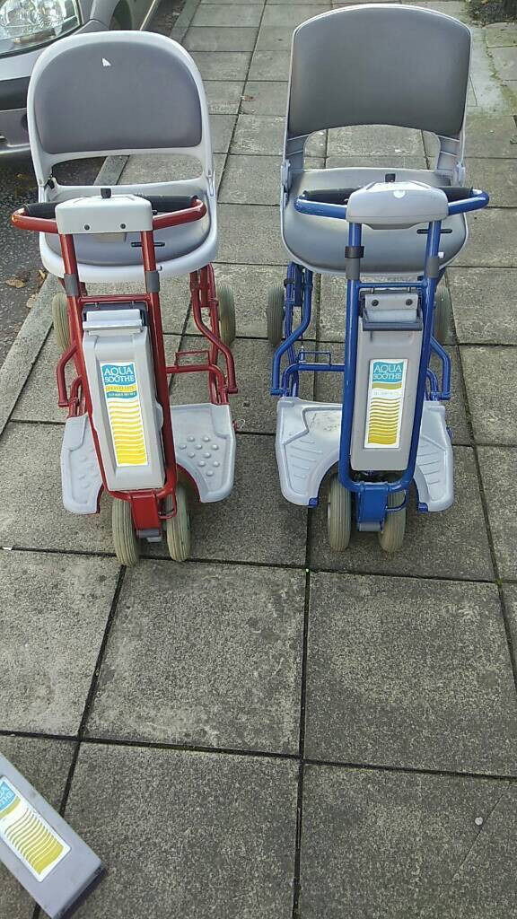Two Aqua Soothe mobility scooters