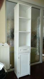 Tall Cabinet / Shelf Unit, White