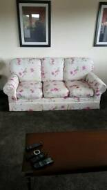 3 seater and chair, removable covers, Wesley Barrell