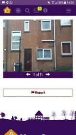 2 bedroom house for a 3 bedroom in Sheffield