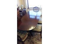 Extending Dining Table with 6 chairs and matching Sideboard very high quality