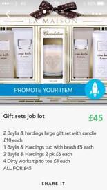 Joblot gift sets