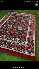 Stunning Extra Large Burgundy Ethnic Eastern 100%Turkish Rug