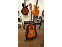 Freshman Songwriter All Solid Dreadnought Acoustic Guitar - Sunburst Finish