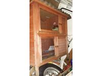 Two level hutch with accessories