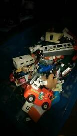 Box of toys..cars trucks.various toys.