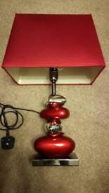 Red & Chrome Table Lamp