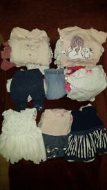 0 to 3 and 3 to 6 months baby girl clothes bundle 80+ items
