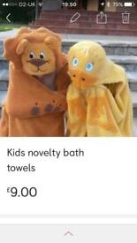 Kids novelty bath towels