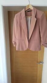 Pink short jacket size 8 worn once