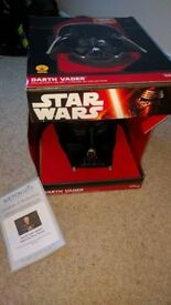 Star Wars Darth Vader Helmet full size signed by Dave Prowse with COA. open to sensible offers