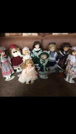 Porcelain Dolls £12for 9 dolls