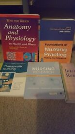 Collection of nursing text books