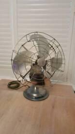 Vintage 1950s oscillating Limit desk fan