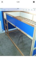 IKEA Kura Kids blue or white mid bunk bed excellent condition
