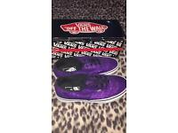 Limited edition glitter purple vans