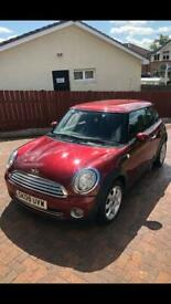 Mini Cooper 1.6 petrol 2009 dark red 65k