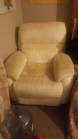 cream sofa and chair