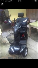 Black strider mobility scooter