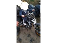 100cc apache quad ( seat loose needs fixed) and 120 cc thumpstar pro (needs work)