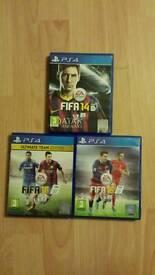 Fifa 16, fifa 15 & fifa 14 bundle PS4