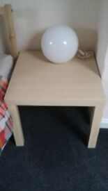Two Ikea lack side table oak £5
