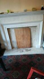 Large fireplace,
