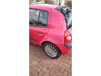 2002 Renault Clio 1.2 Petrol, 98,000 miles, 8 Months MOT; Cambelt & Water pump changed @ 75,000